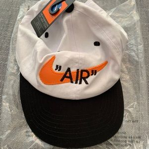 """AIR"" Nike Swoosh Hat - White orange & black NWT"